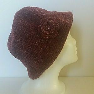 Hat Beret Old Fashion Burgundy Red Wine Gift